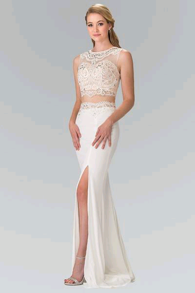 0d7a92429c Make a Bold statement in this white 2 piece prom dresses. A sexy 2018 prom  gown.  simplyfabdress  prom2k18