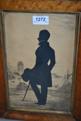 Two Early 19th Century Maplewood Framed Silhouettes,