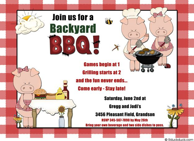 Funny Bbq Party Invitation Wording – Party Invitation Funny