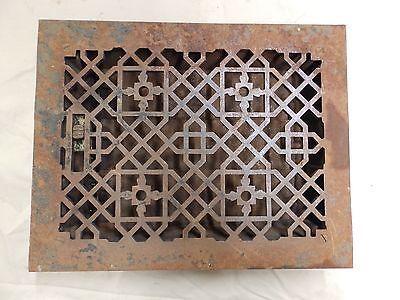Antique Cast Iron Decorative Floor Heat Grate Register