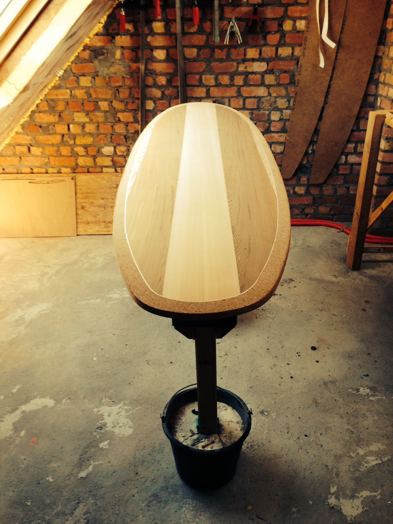 Making Of A 64 Rotor Surfboard With Cork Rails