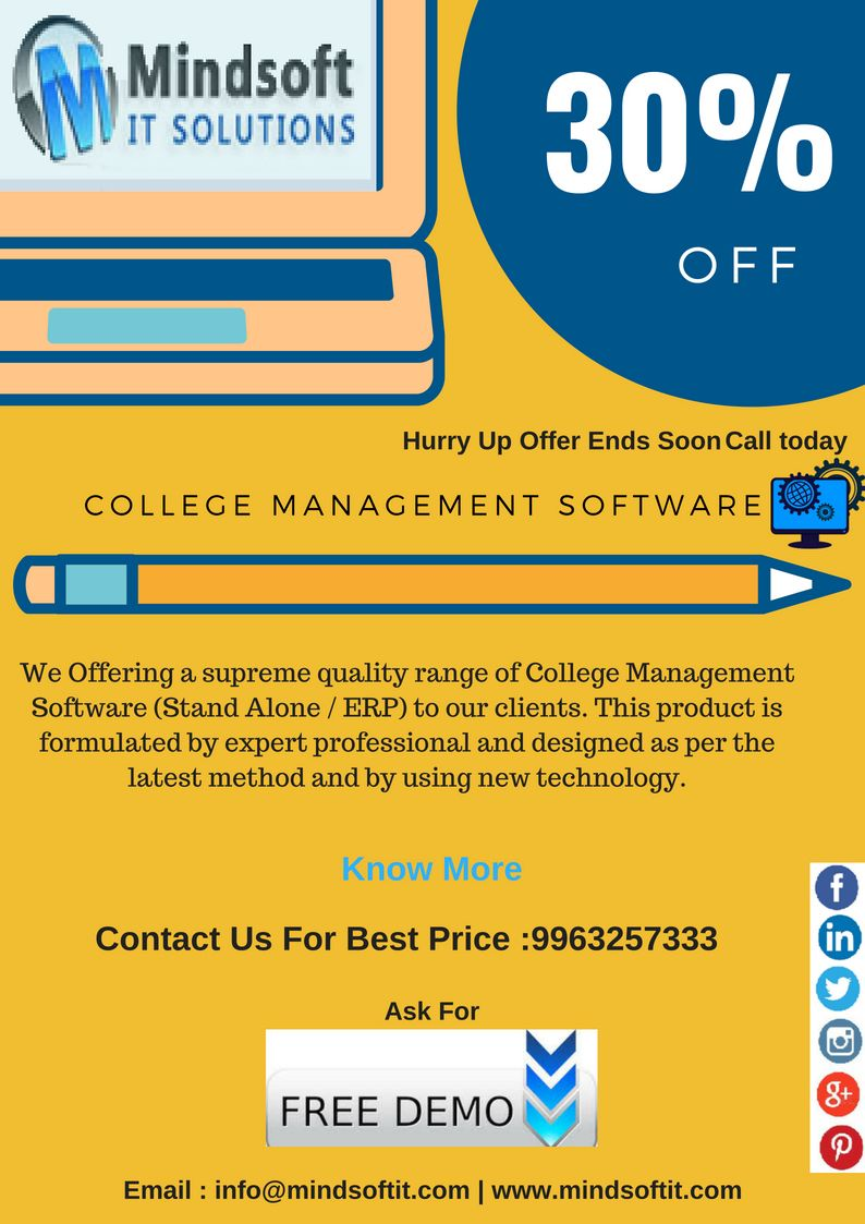 College Management Software Modules Like Student Admission Management Timetable Management Library Man College Management School Application Exam Marks