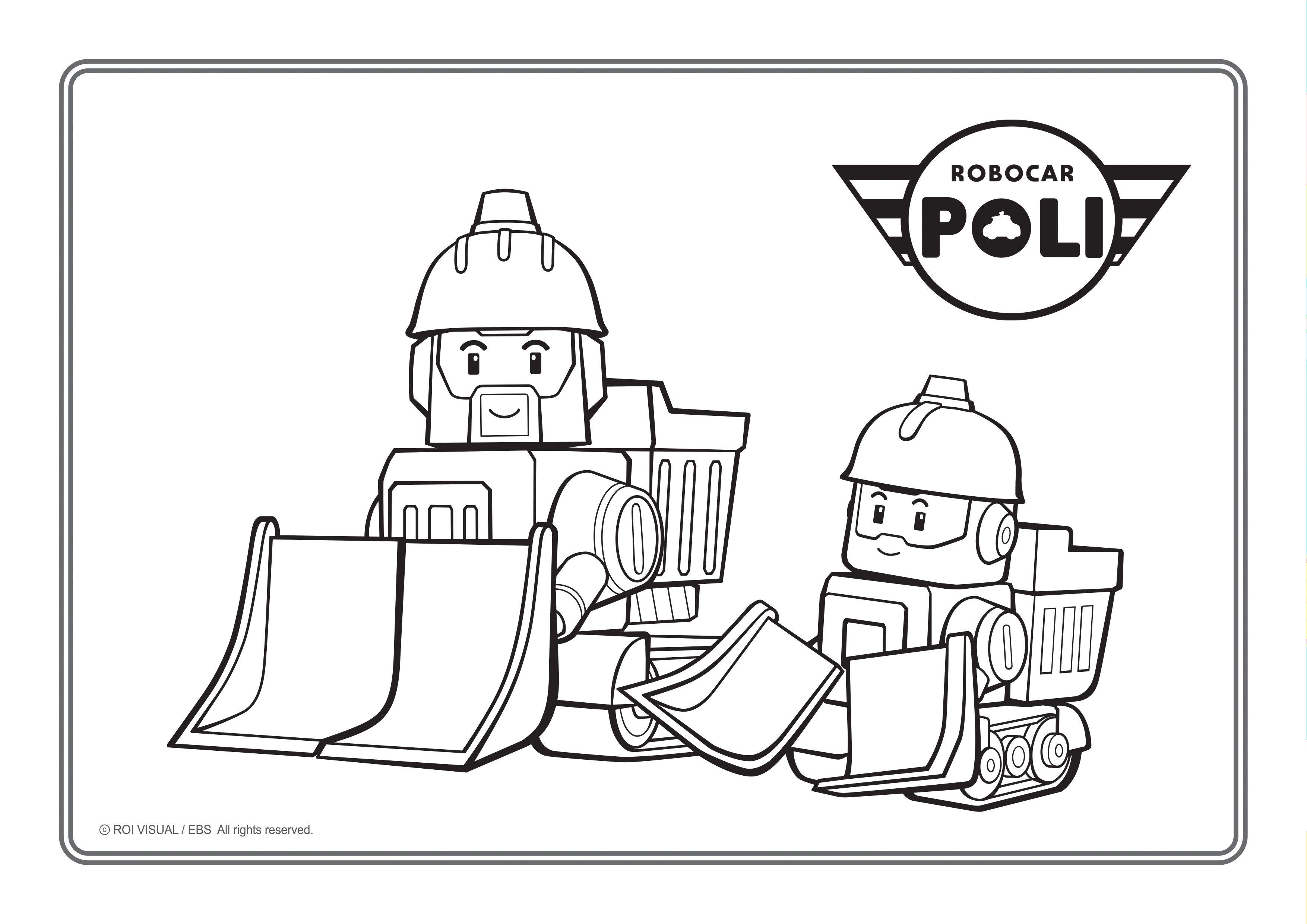 L gant dessins a imprimer robocar poli - Radio car poli ...