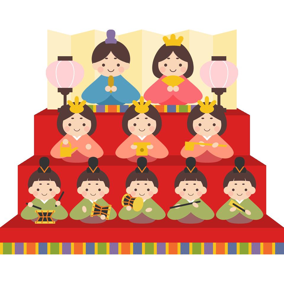 雛人形 三段飾り のイラスト素材 ひなまつり イラスト ひなまつり 製作 おひなさま 製作