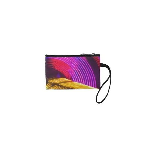 Abstract Purple Yellow Red and Green Lights Coin Purse ($26) ❤ liked on Polyvore