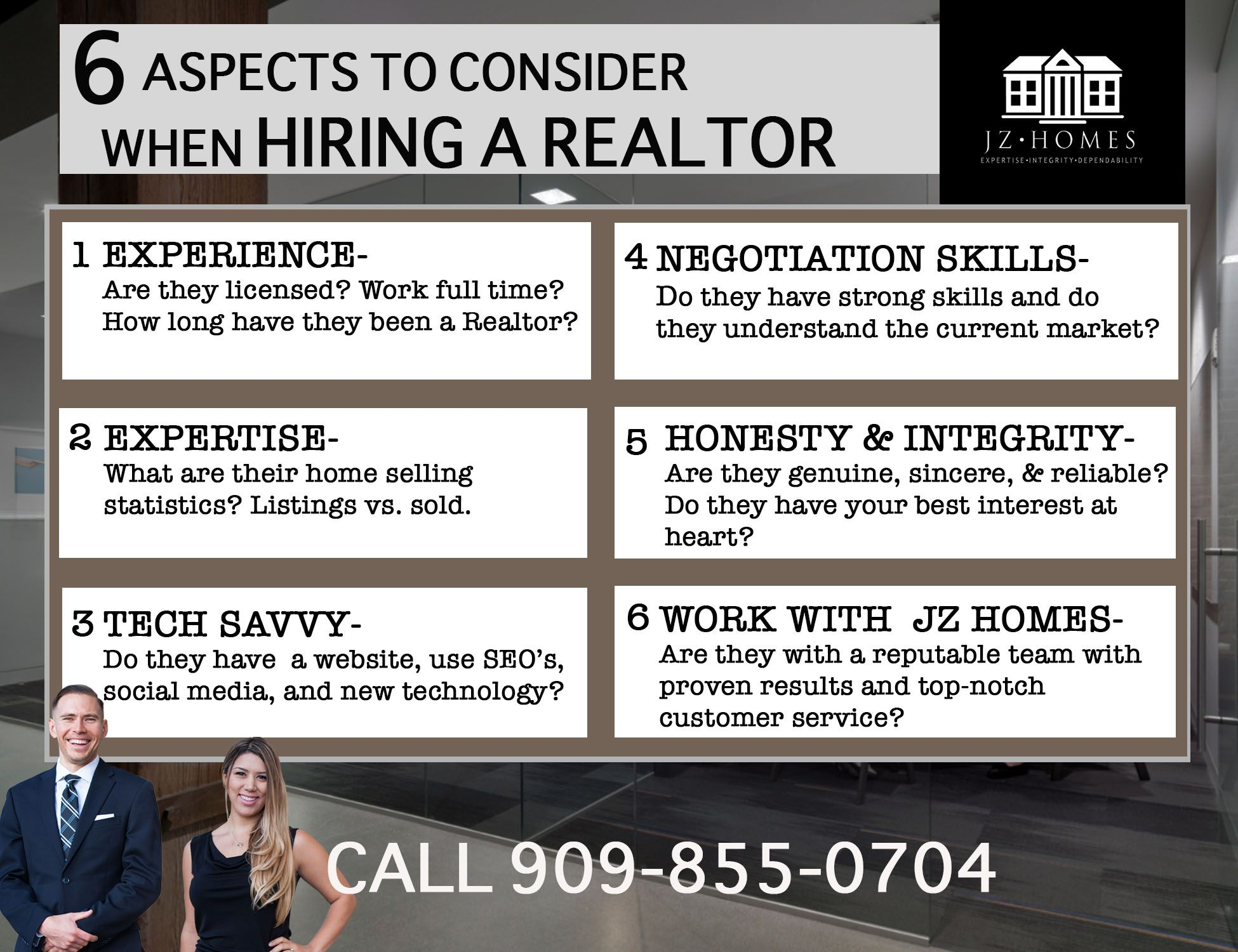 6 aspects to consider when hiring a realtor to view homes