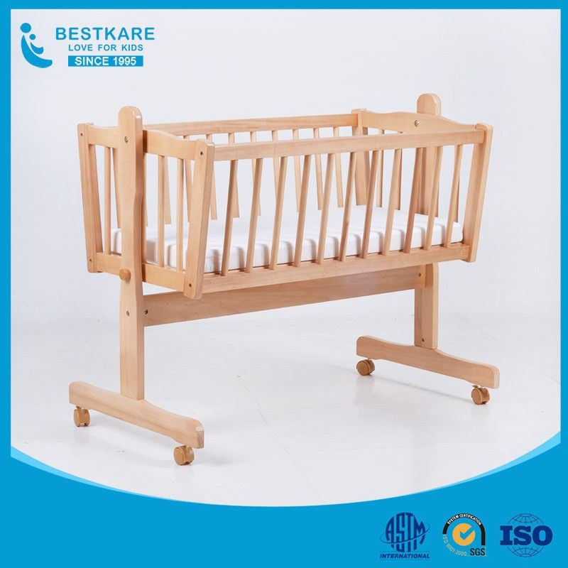 Baby Swing Bed New Born Wooden Crib Baby Cradle Rocking Bassinet Hanging Bassinet Baby Bed