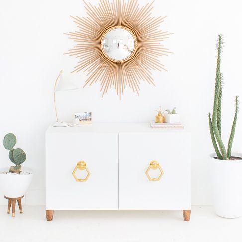 Hollywood Regency Style Storage Unit from Sugar u0026 Cloth & Epic IKEA Hacks for Kids Rooms u0026 Nurseries | Pinterest | Hollywood ...