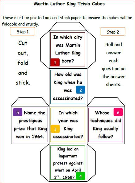 Martin-Luther-King-Jr-Reading-and-Writing-Activities-cubes ...