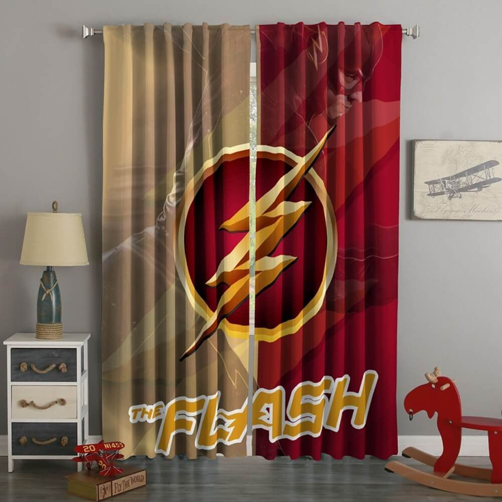 3D Printed The Flash Style Custom Living Room Curtains BedroomCurtainsModern