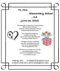 thank you poem for kindergarten teacher - Google Search