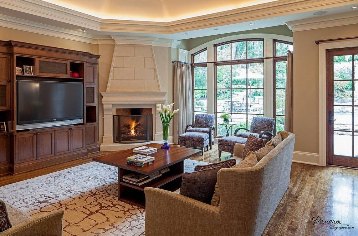 Clever Tips To Decorate Around Corner Fireplaces Corner Fireplace Living Room Livingroom Layout Family Room Design