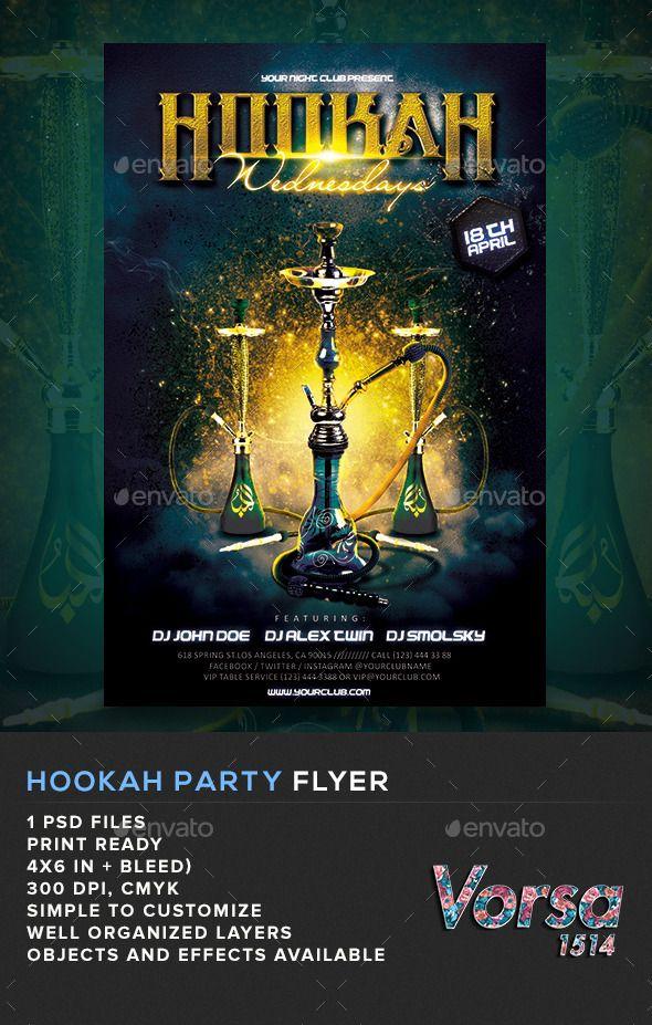 Hookah Party Flyer My posters Pinterest Party flyer, Flyer