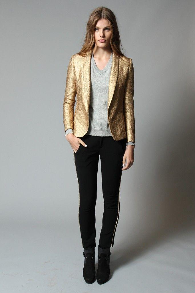 blazer dourado qrooo.........