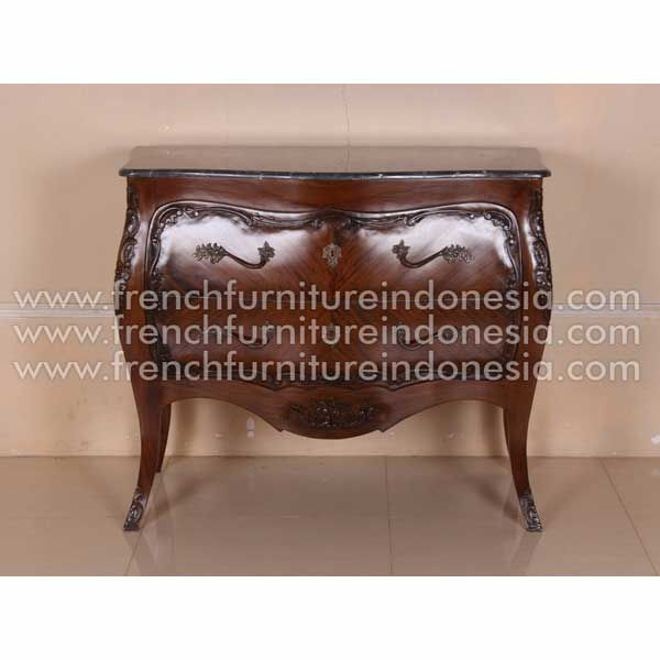 Buy Bombay Chest With Black Marble Top from French Antique Reproduction  Furniture. We are reproduction - Buy Bombay Chest With Black Marble Top From French Antique