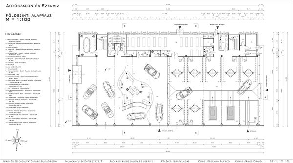Compact Architectural Design For A Car Showroom And Service Architecture Function Structure