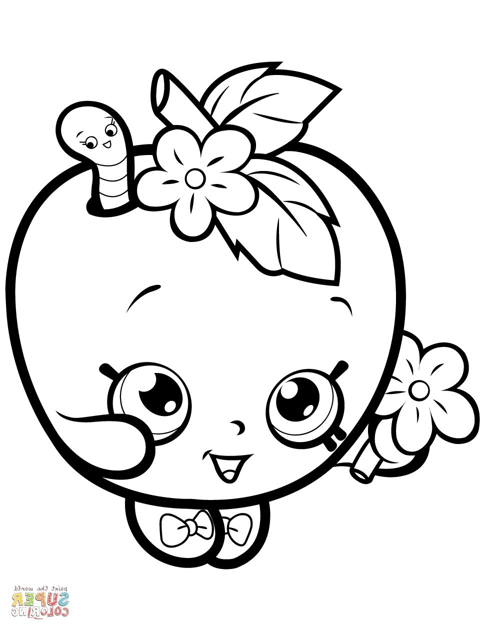 Super Coloring Pages Shopkins Colouring Pages Fruit Coloring