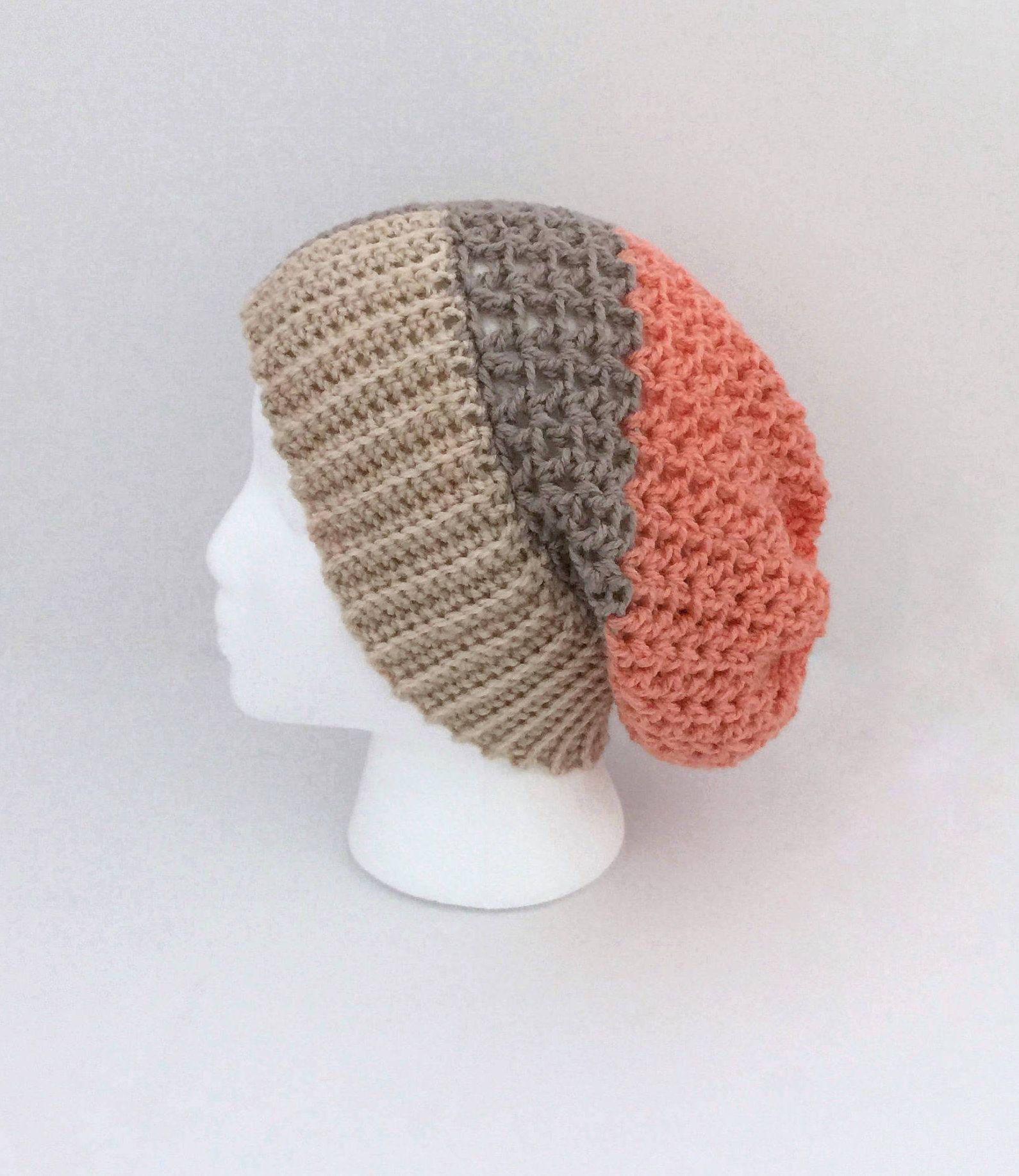 Womens Slouch Hat, Winter Slouch Hat, Slouch Hat Crochet, Slouchy ...