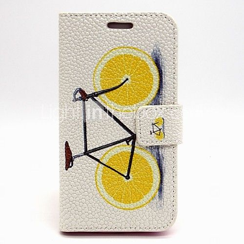 Lemon Bike PU Leather Case with Stand for Samsung Galaxy S6/S5/S4/S3/S3 mini/S4 mini/S5 mini/ S6 edge/note 3/note 4 -