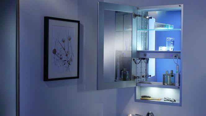 Custom Shelf Glasscrafters Mirrored Medicine Cabinet Cabinet