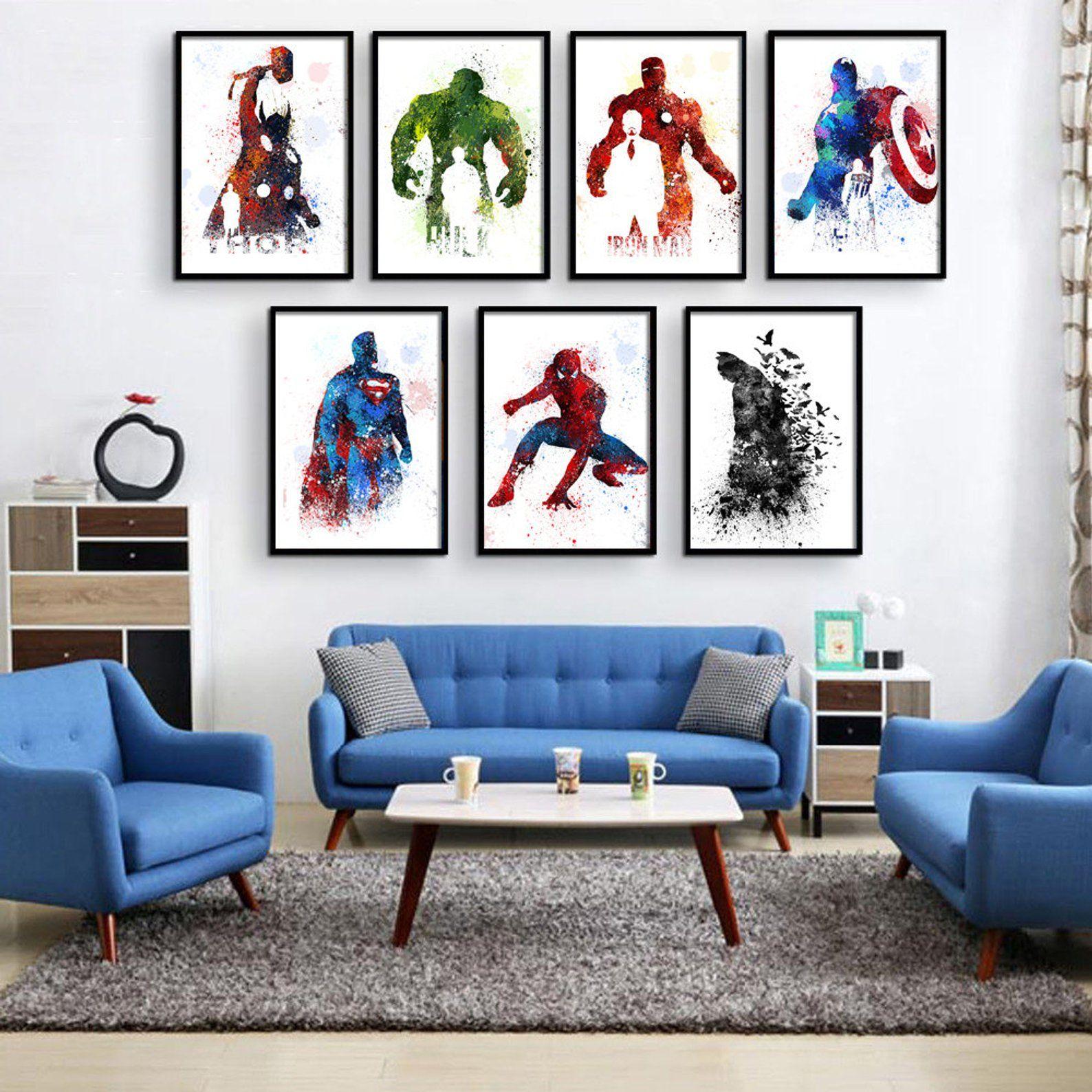 Superhero Decor Super Hero Wall Art Superhero Room Decor Etsy With Images Superhero Room Decor Boys Room Decor Superhero Wall Art