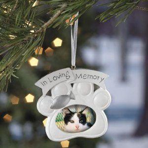 Loving Memory Cat Memorial Christmas Ornament Photo1039  Cool