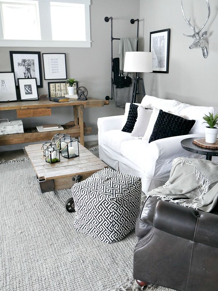 Bringing The Outdoors In Rustic Living Room Living Room Decor