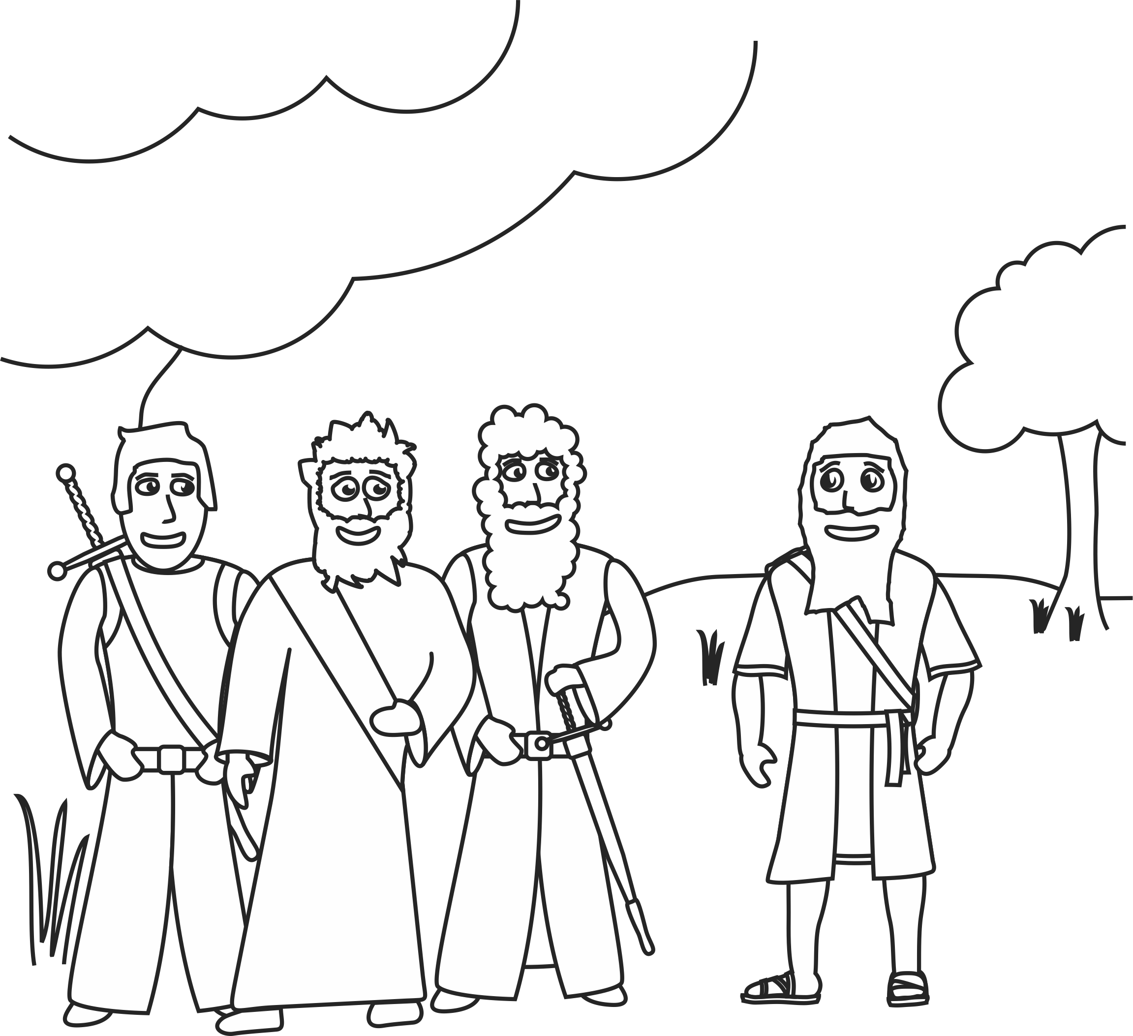 God Visits Abraham Coloring Page
