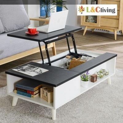 A Stylish White Bamboo Lift Top Coffee Table For Your Modern Living Room Transfo Table Decor Living Room Living Room Coffee Table Coffee Table With Storage