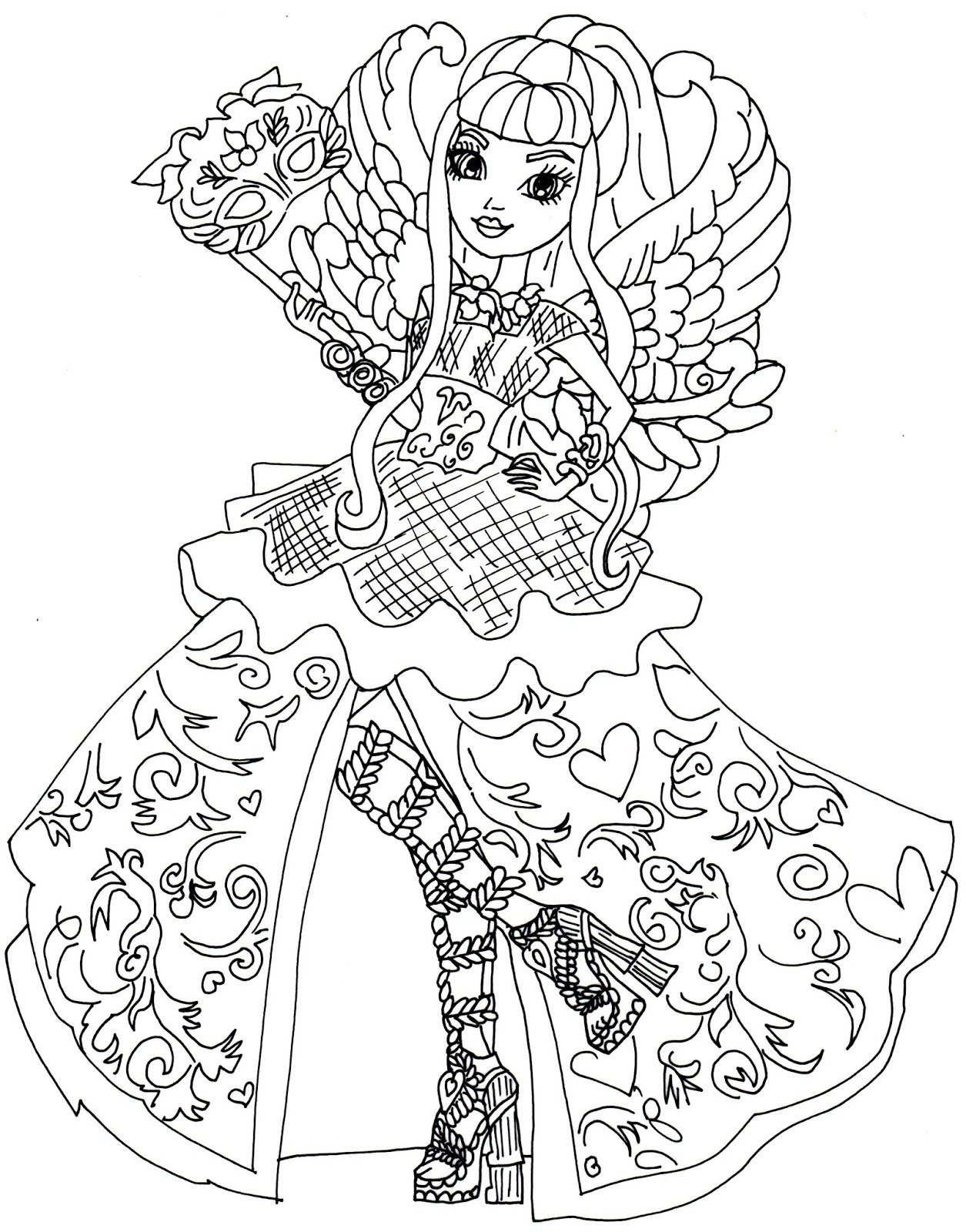 Monster High Meerjungfrau Ausmalbilder : Ever After High Coloring Pages To Download And Print For Free