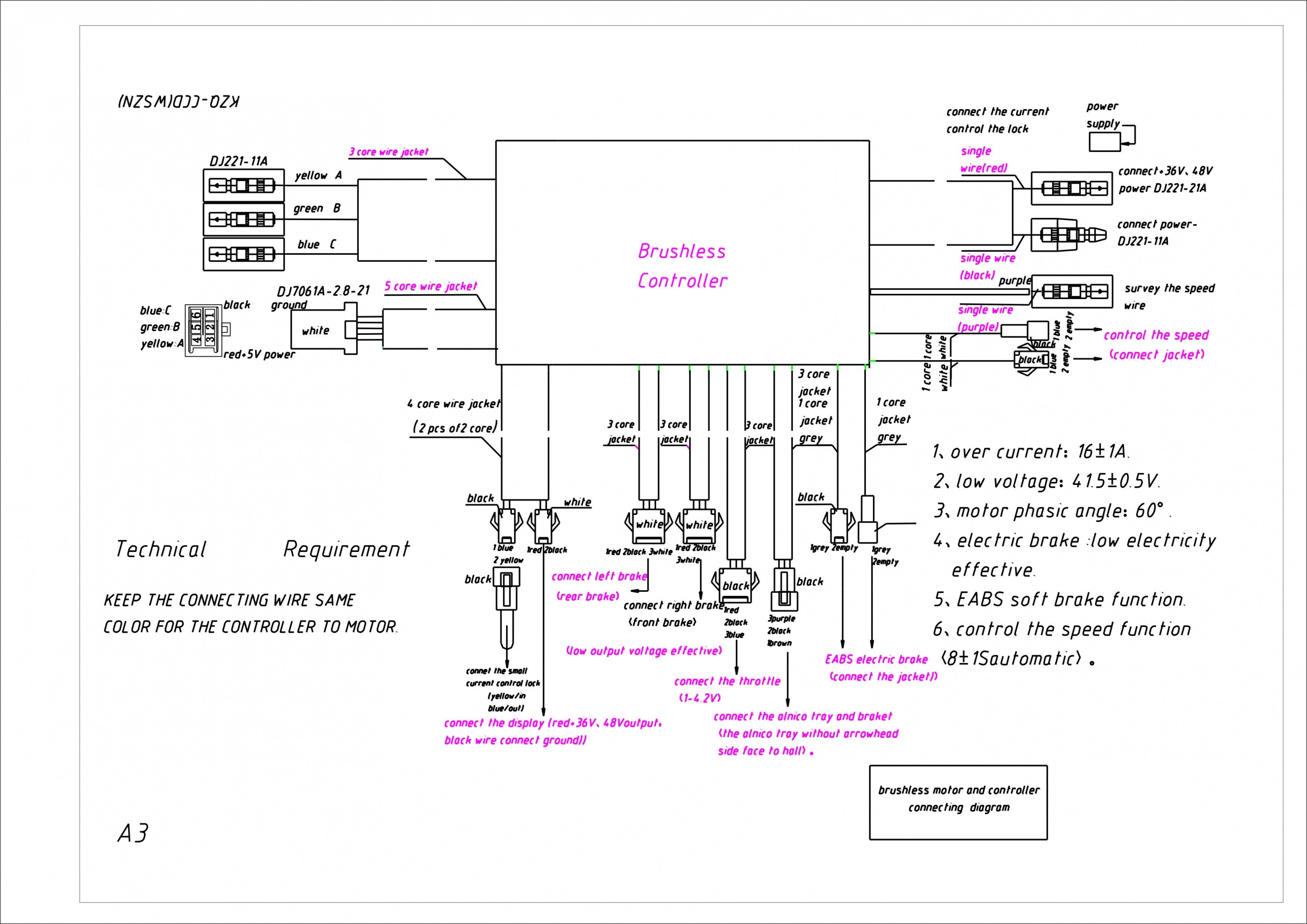 Unique Wiring Diagram Electric Scooter  Diagram