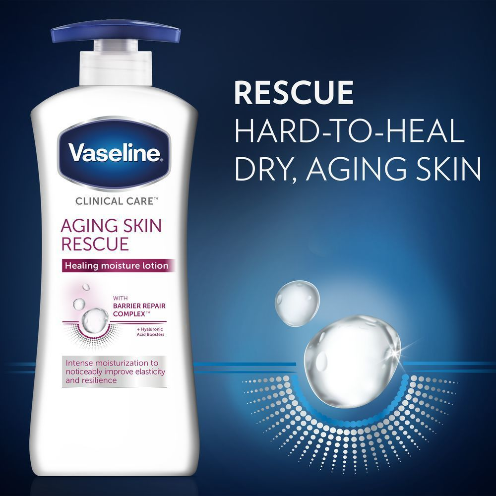 Vaseline Clinical Care Aging Skin Rescue Hand And Body Lotion 13 5oz Lotion For Dry Skin Sensitive Skin Lotion Aging Skin
