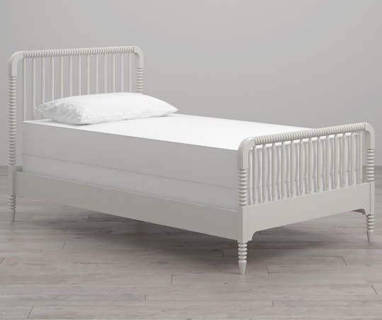 Little Seeds Rowan Valley Linden White Twin Bed Frame Twin Bed