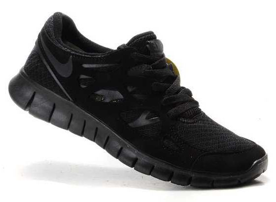 ccfdade67ead Nike Free Run 2 Mens All Black Shoes
