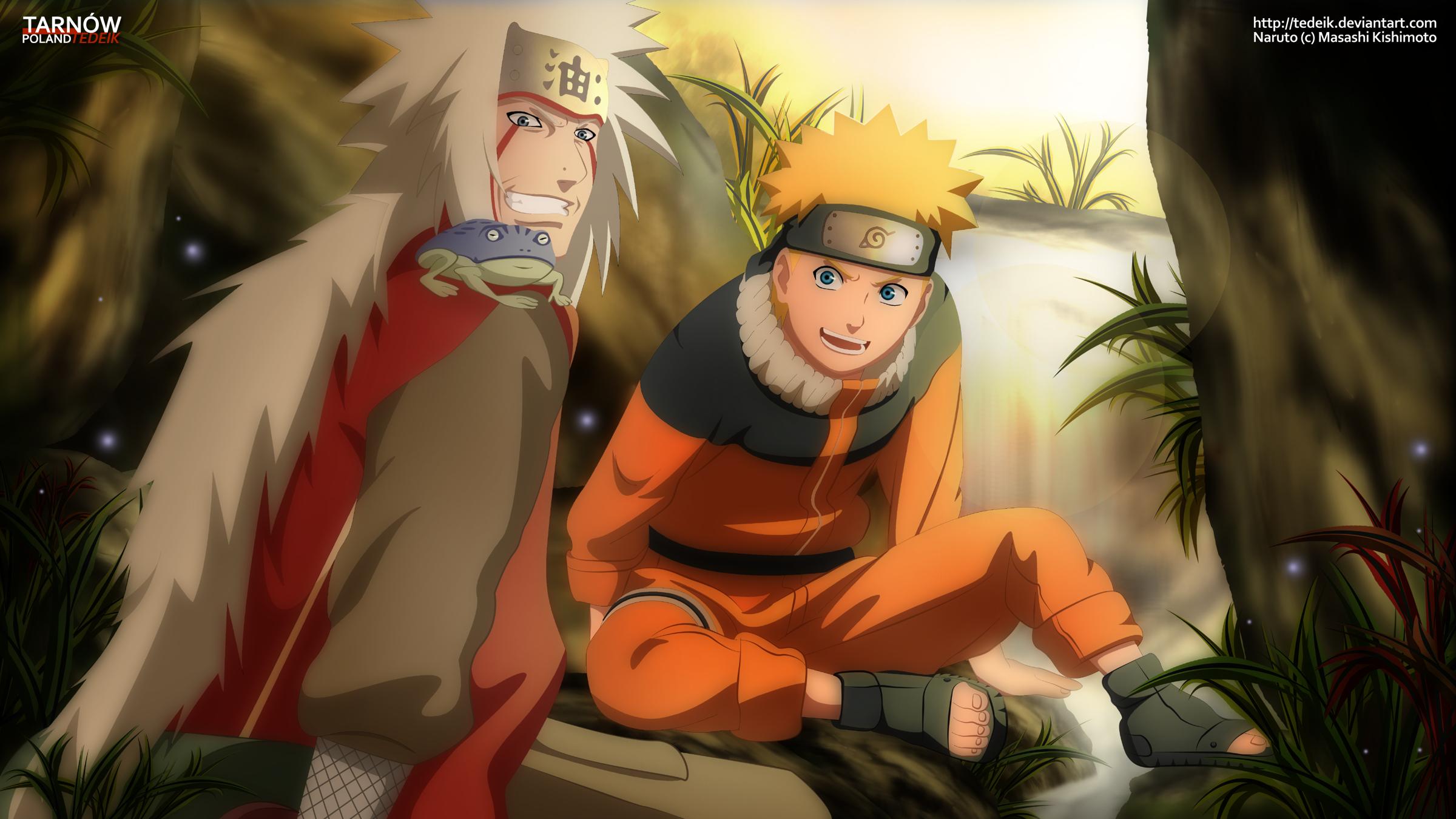 Anime Naruto Naruto Uzumaki Jiraiya Wallpaper