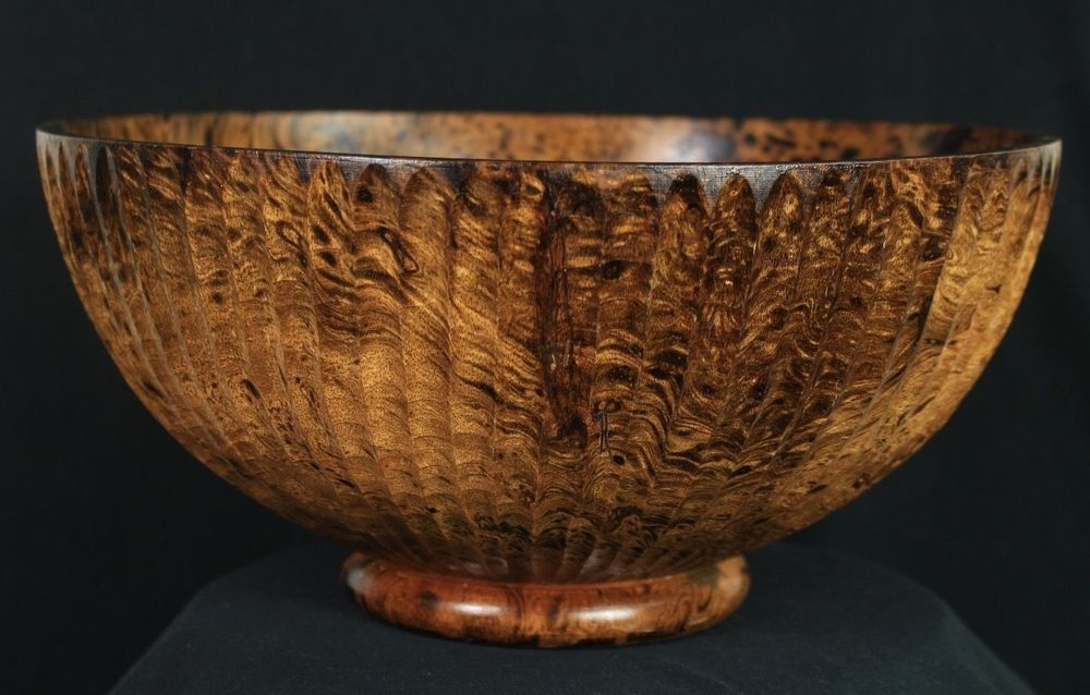 """Wooden Decorative Bowls Large 115"""" X 5"""" Unique Wooden Decorative Bowl Hand Carved Thuya"""
