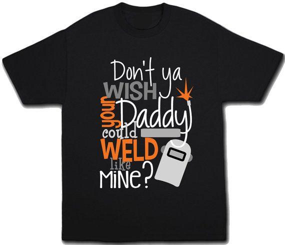 49cb80aa Kids Welder Shirt Cute Welding T-Shirt Children's Daddy by Umbuh ...