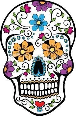 Ideas Diy Denim Catrinas Skull Day Of The Dead Skull Y Sugar