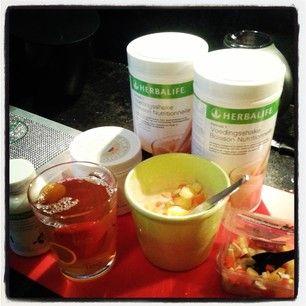 Mijn ontbijt van Herbalife. Vol met voedingsstoffen en maar 220 kcal.