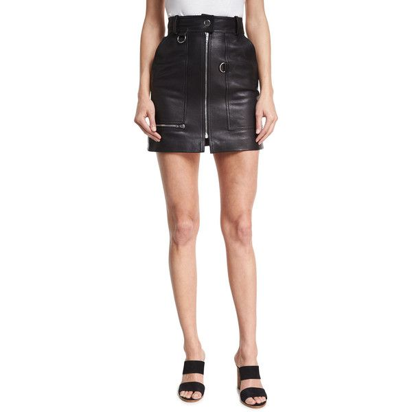 Isabel Marant High-Waist Leather Mini Skirt ($1,325) ❤ liked on ...