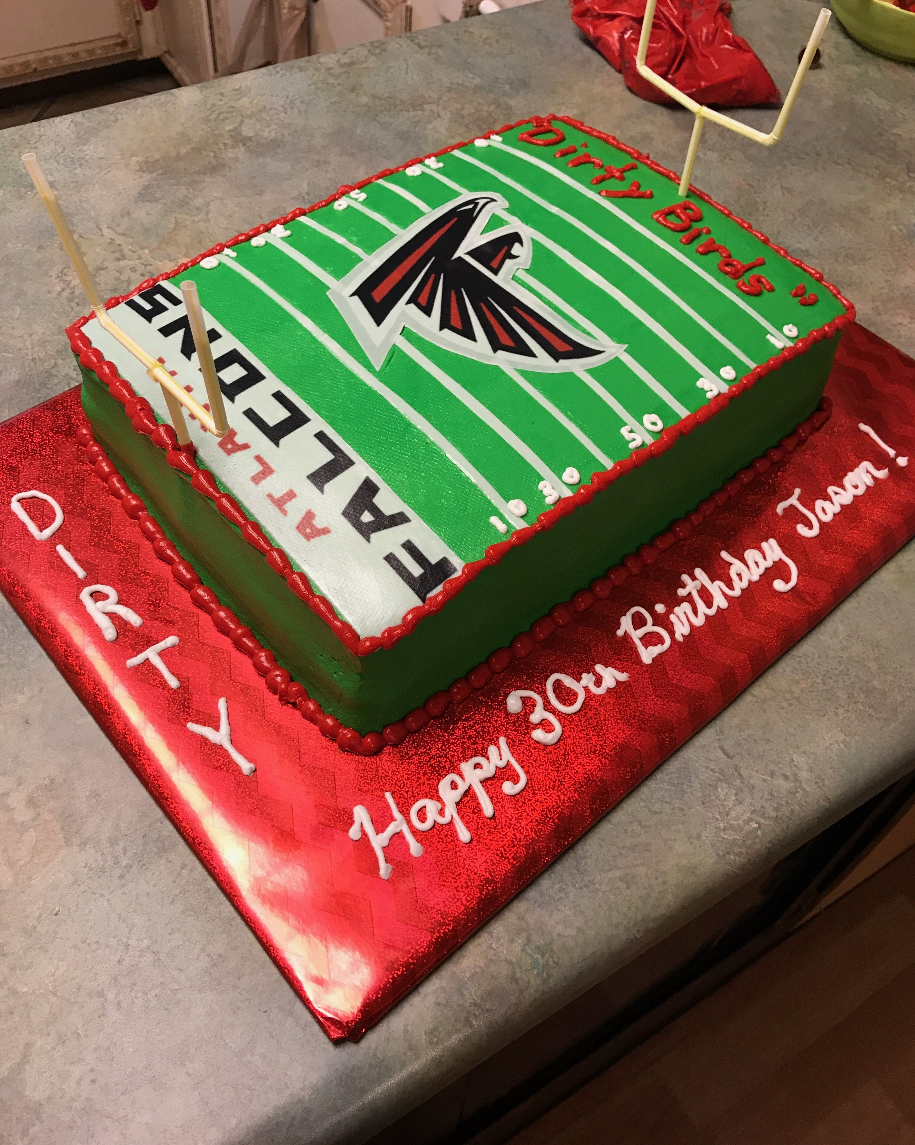 Atlanta Falcons Birthday Cake Atlanta Falcons Cake Atlanta Falcons Birthday Falcons Cake