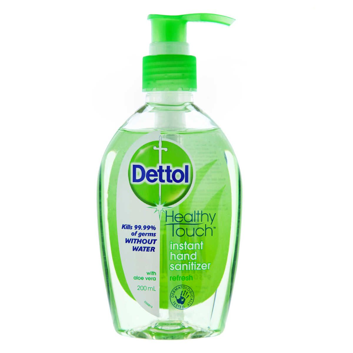 Dettol Healthy Touch Instant Hand Sanitiser Refresh With Aloe Vera