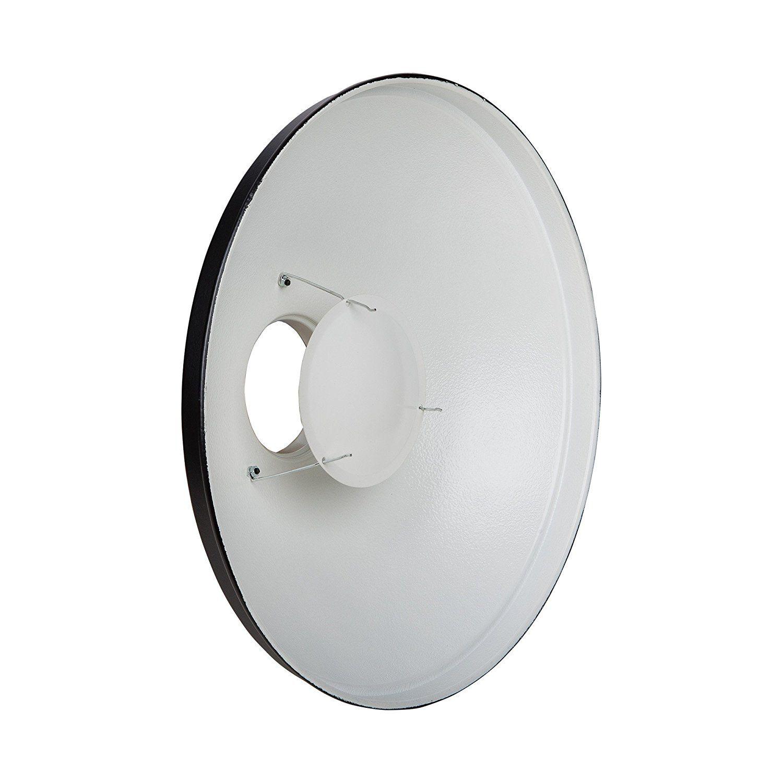 Amazon.com : PhotoSEL Beauty Dish Reflector, 28-Inch, White Interior ...