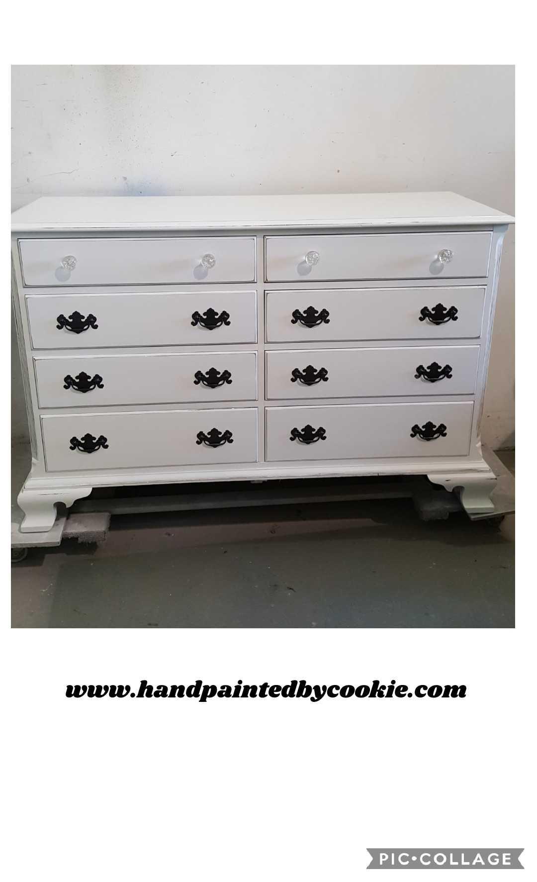 Vintage Painted Distressed And Glazed Bedroom Dresser Chest Furniture White Painted Dressers Dresser Furniture Makeover [ 1773 x 1080 Pixel ]