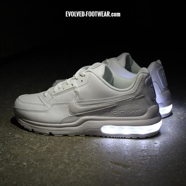 newest 48a5a a40f0 MEN S ALL WHITE NIKE AIR MAX LTD WITH LED LIGHTS .