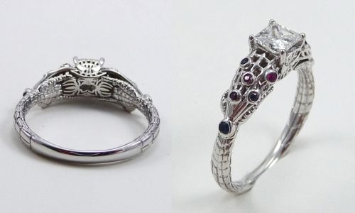 Spiderman Engagement ring 20 Geeky Engagement Rings You Can