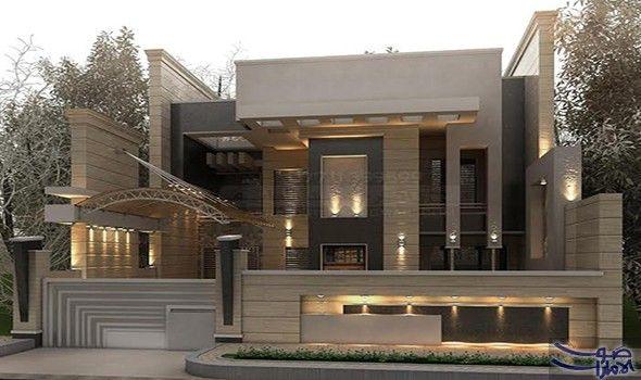 تصاميم جديدة ورائعة لواجهات المنازل الحديثة في العراق لعام 2017 تم الكشف عن تصميم لواجهات المنازل House Outside Design House Front Design Compound Wall Design