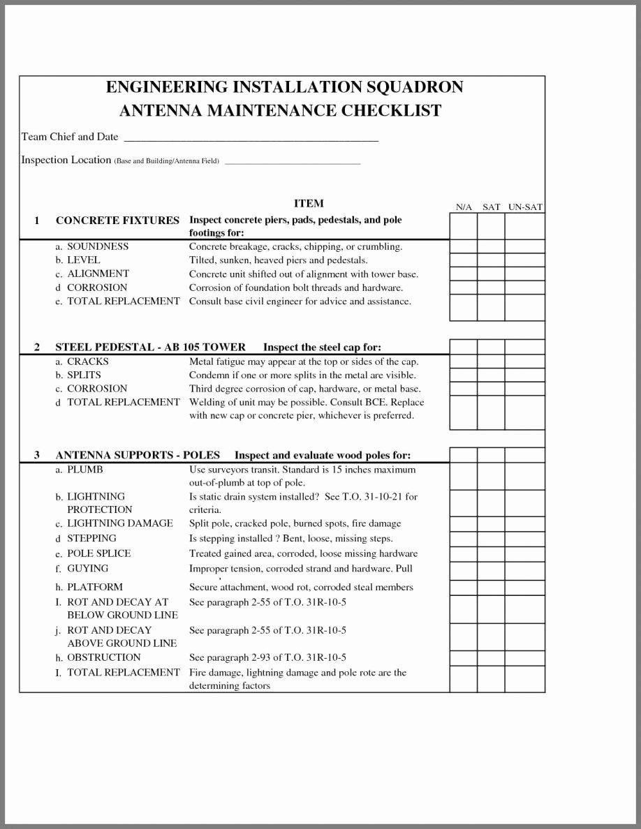 Building Maintenance Schedule Template New Building Maintenance Checklist Format Procedur Maintenance Checklist Home Maintenance Checklist Building Maintenance