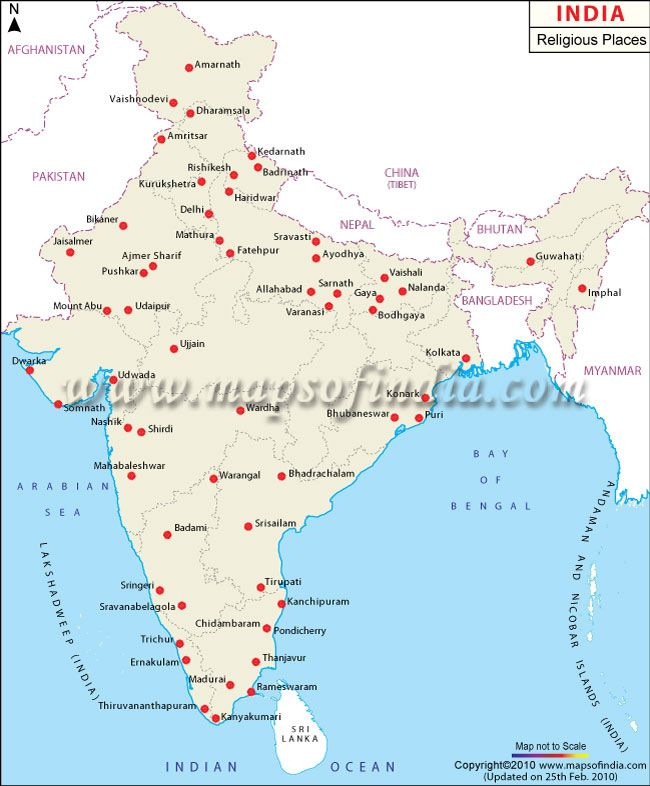 Ayodhya In India Map.Map Of Religious Places In India Religions Rituals Beliefs In 2019