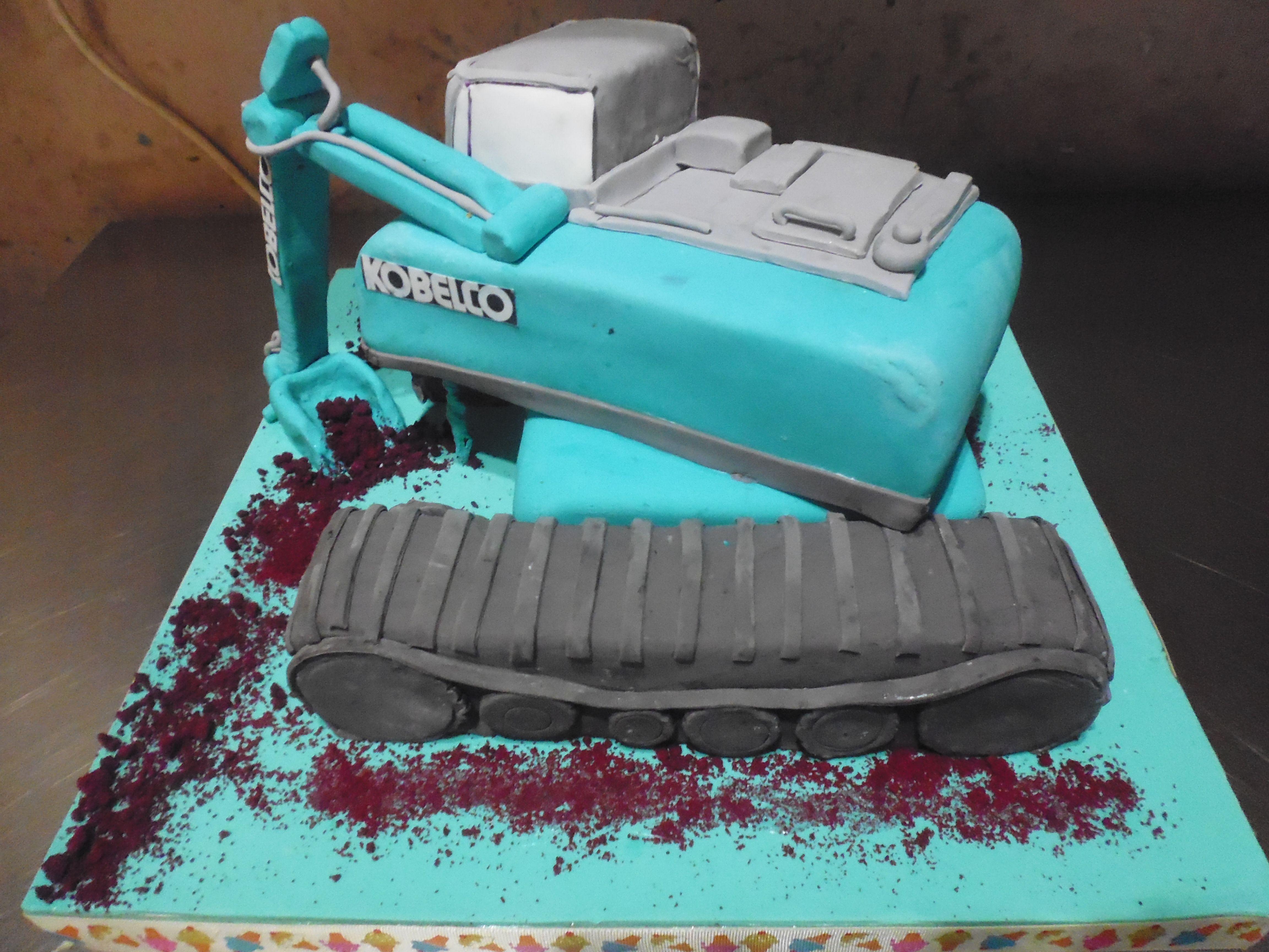 Birthday Cake Kobelco Made By Strawberry Delight Custom